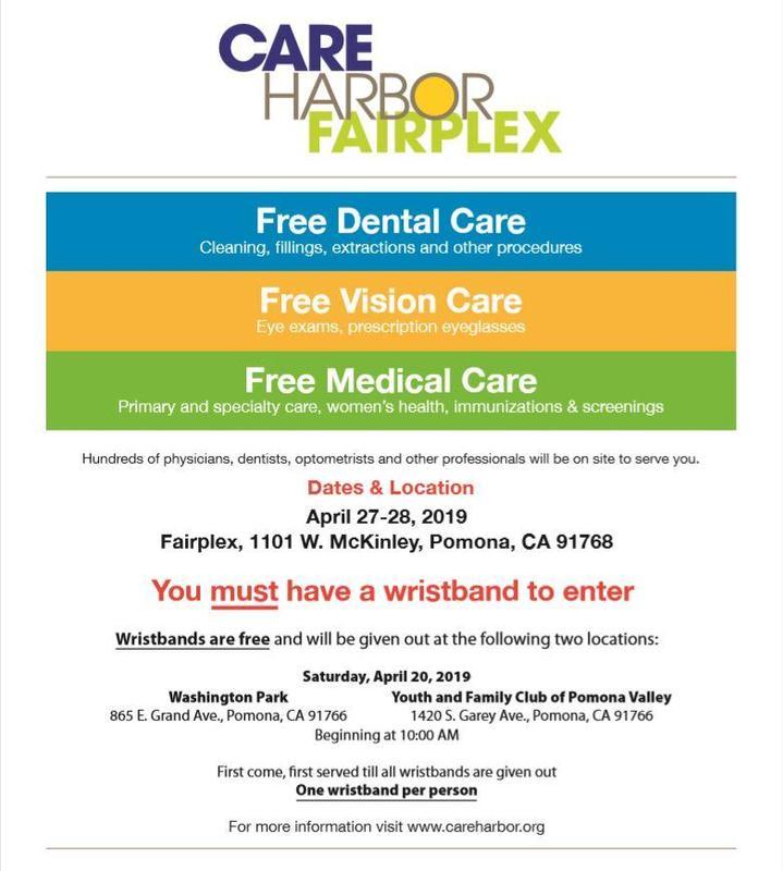 Care Harbor Mega Free Clinic Event at Fairplex