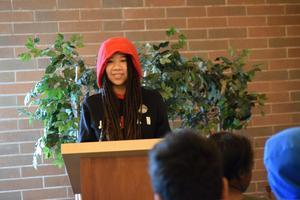 girl speaking