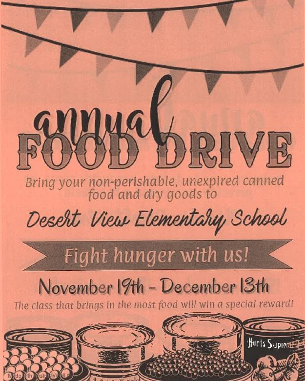 Canned food drive flyer English