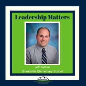 Grantsville Elementary School principal Jeff Zaleski