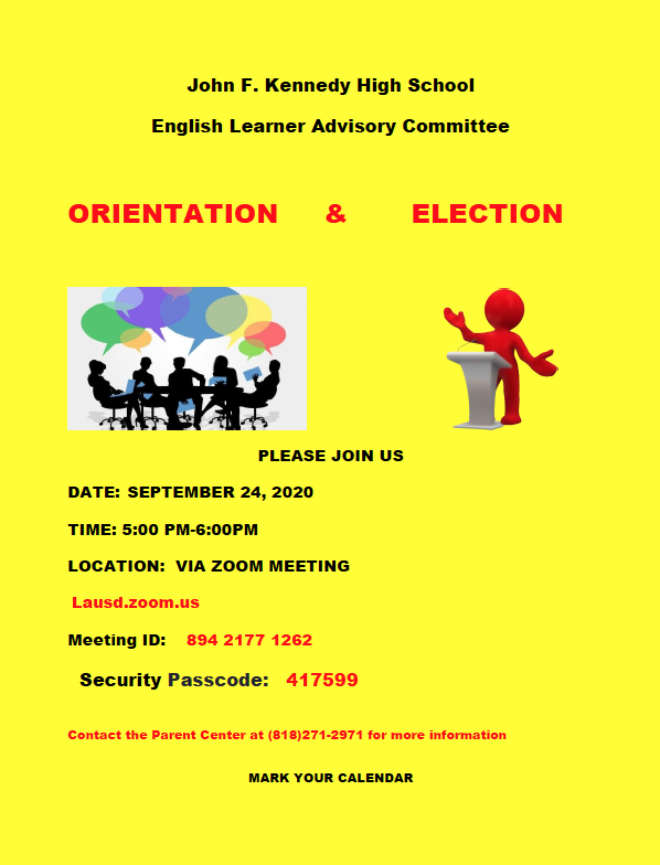 English Learner Advisory Committee (ELAC) Orientation & Election Featured Photo