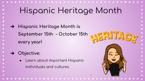 Hispanic Heritage Month overview