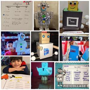 robots and descriptions collage