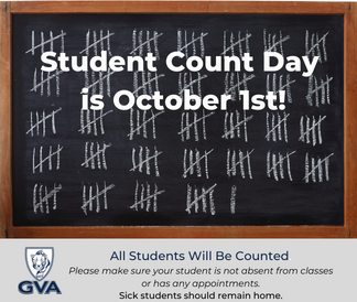 Student count day is October 1.