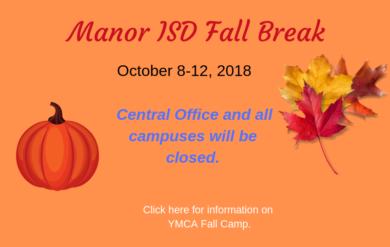 Fall Break and YMCA Camp Information Thumbnail Image