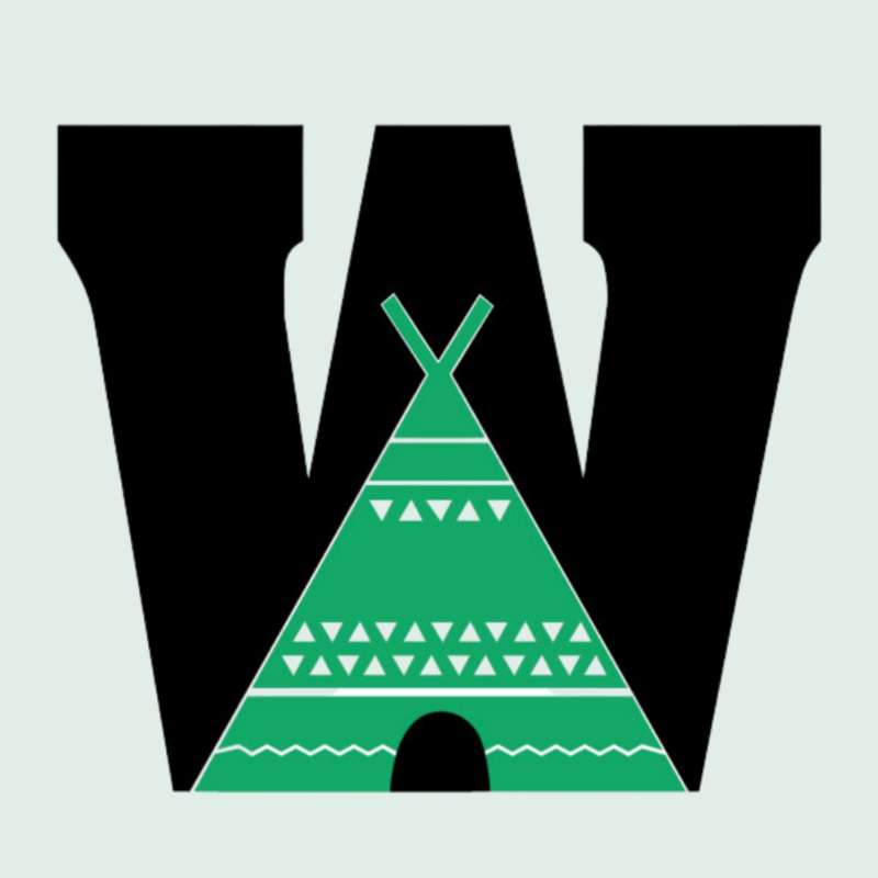Wedgeworth logo with a W and a teepee