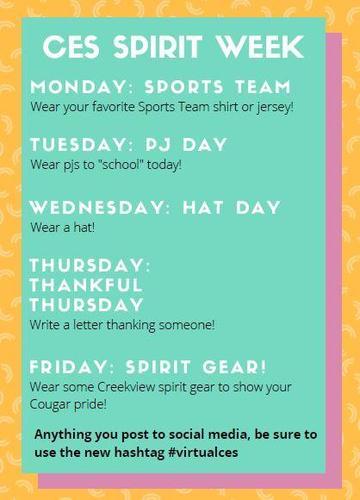 CES Spirit Week