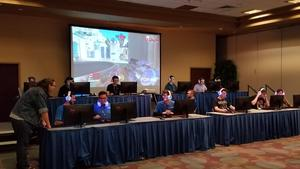 Students compete at a Boise State esports tournament.