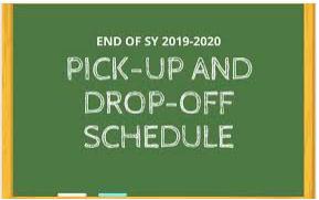 Drop off & Pick Up Procedures and Schedule  June 3 & 4 Featured Photo