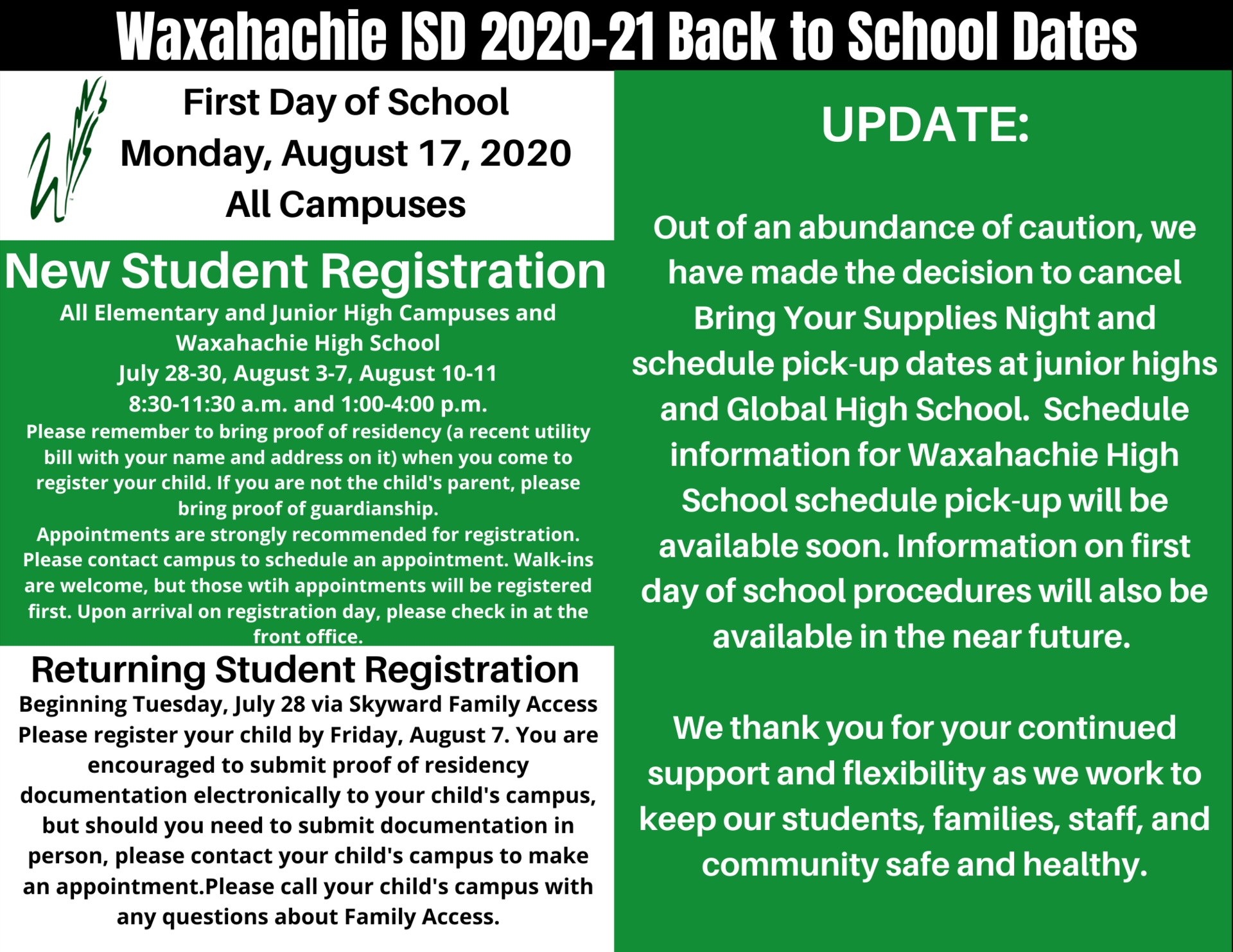 back to school August 17 graphic
