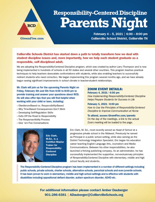 Responsibility-Centered Discipline Parents Night Feb. 4-5 Featured Photo