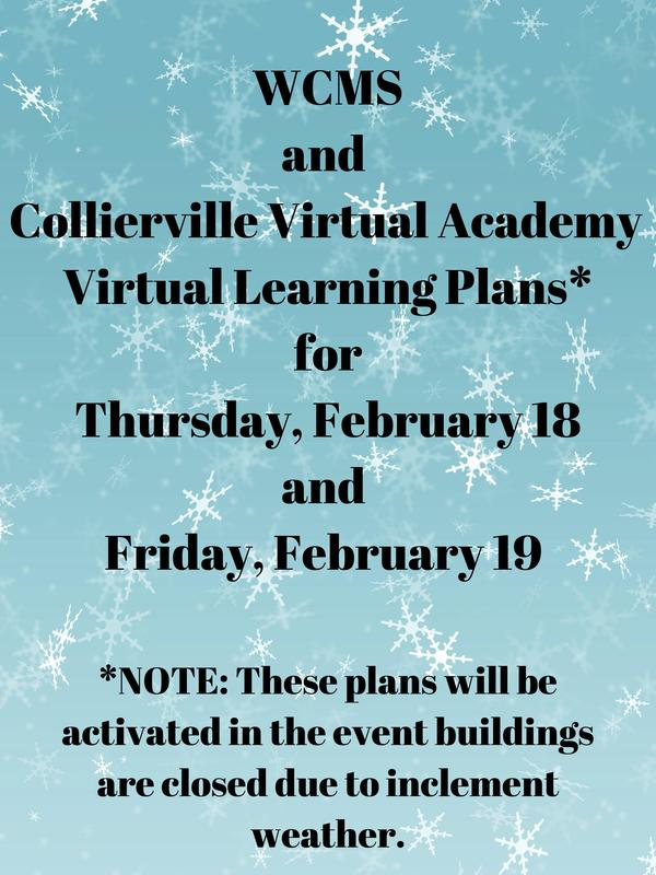 WCMS and CVA Virtual Learning Plans for Thursday 2/18 and Friday 2/19 Featured Photo