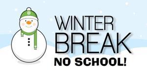 winter break no school snowman image