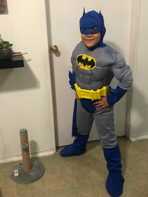 Angel in Batman costume