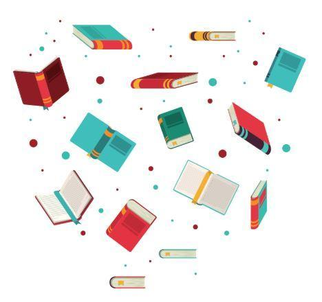 image of books flyer through the air