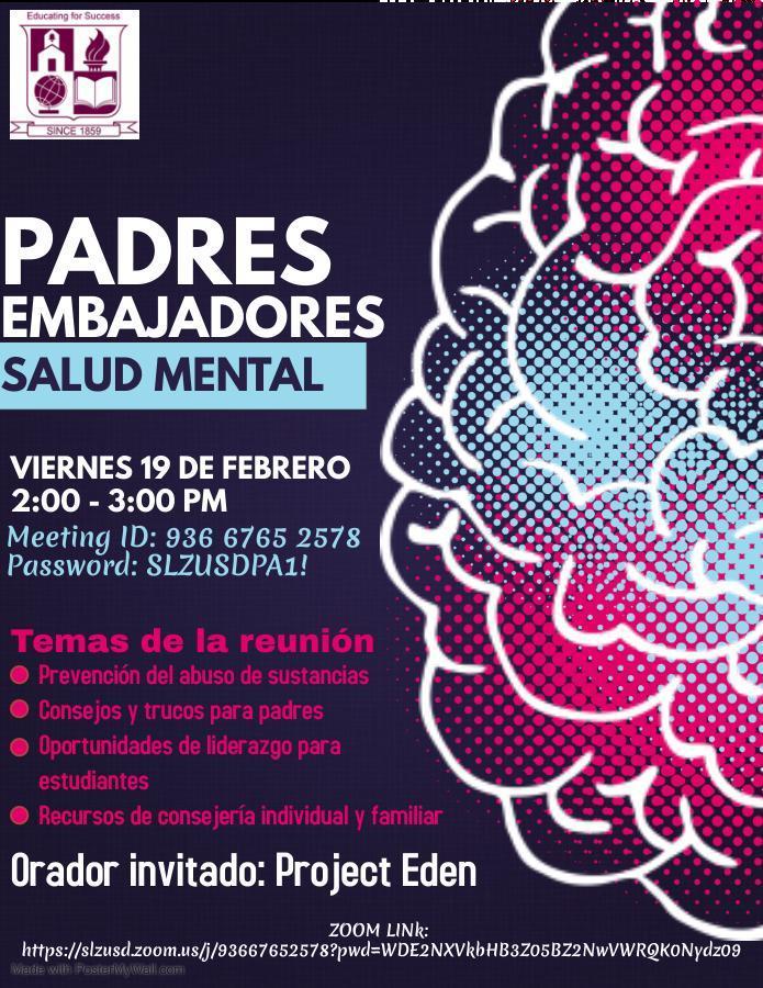Parent Ambassador Spanish Flyer