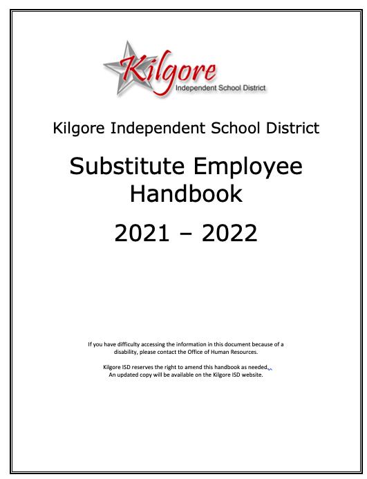 2021-2022 KISD Substitute Handbook