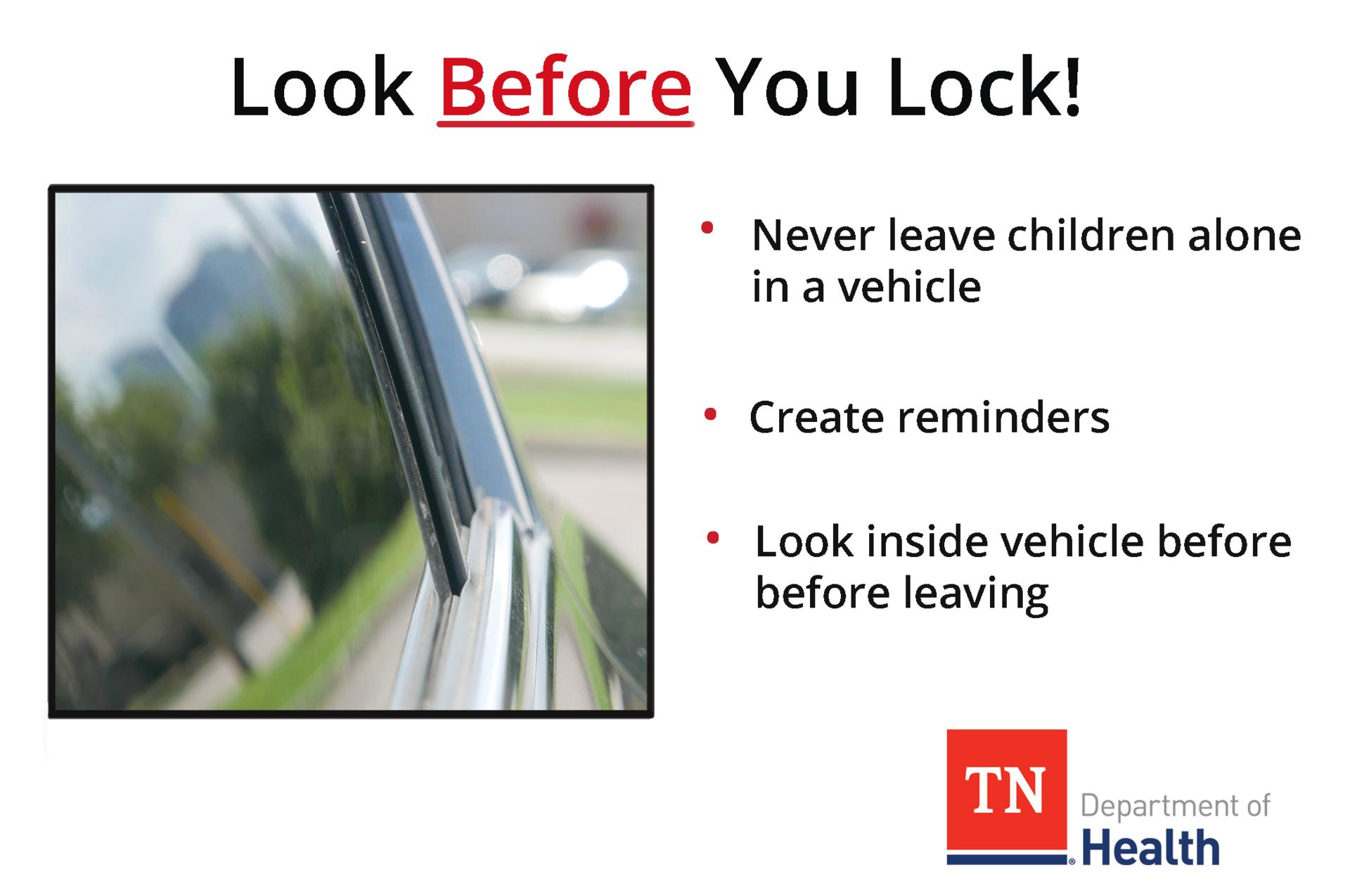 Look BEFORE you lock!