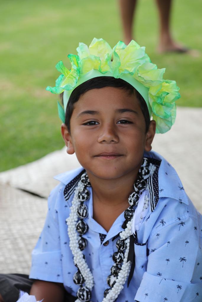 boy with green haku