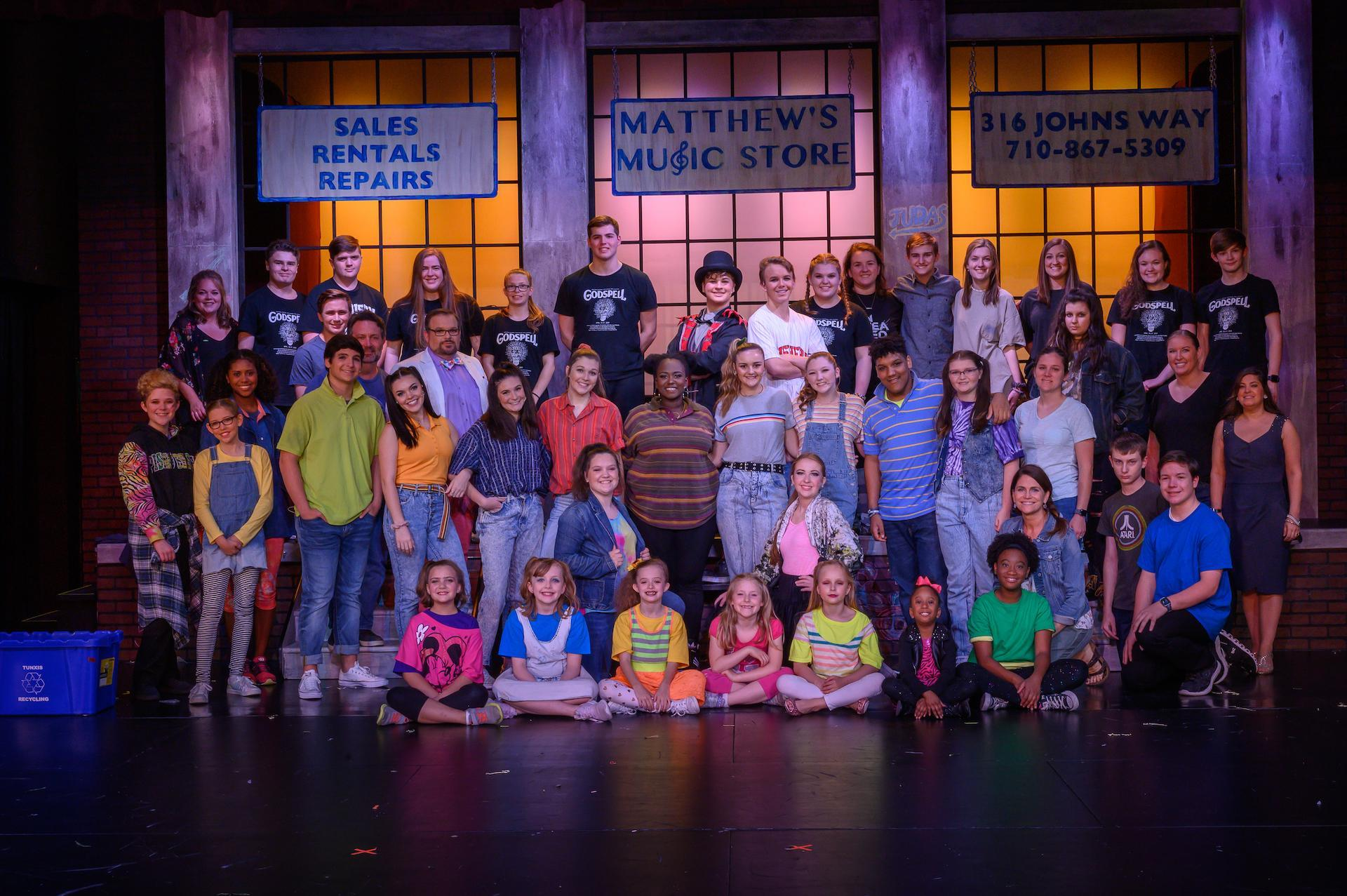 Godspell Cast Photo