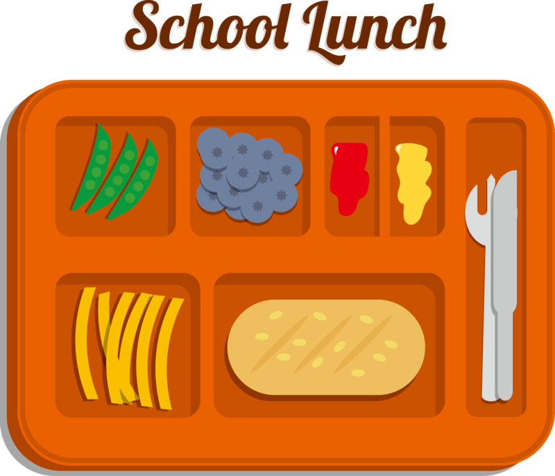 Clipart of school lunch.