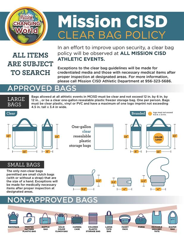 Mission CISD clear bag policy