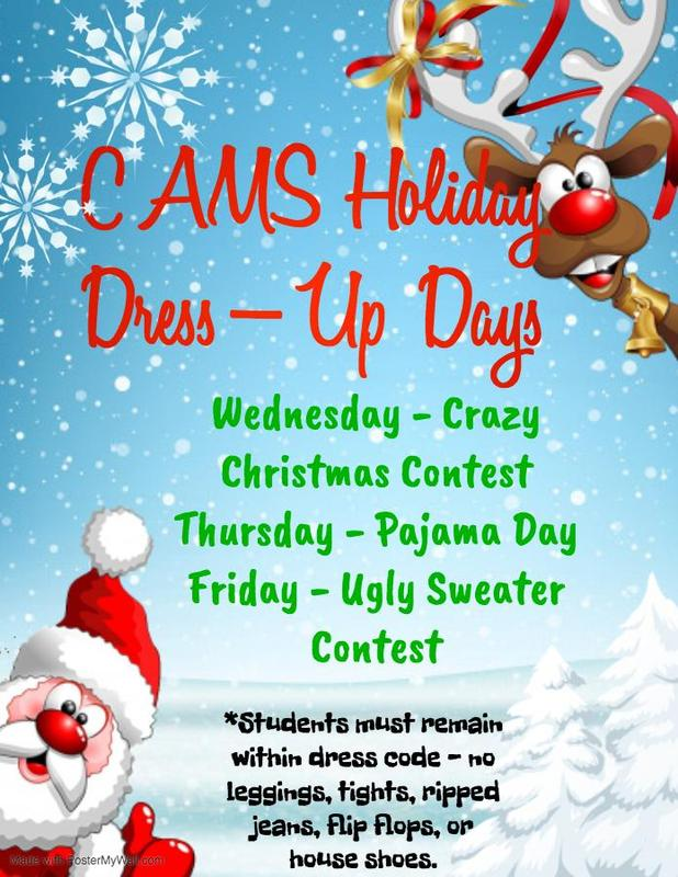 CAMS Holiday Dress-Up Days Featured Photo