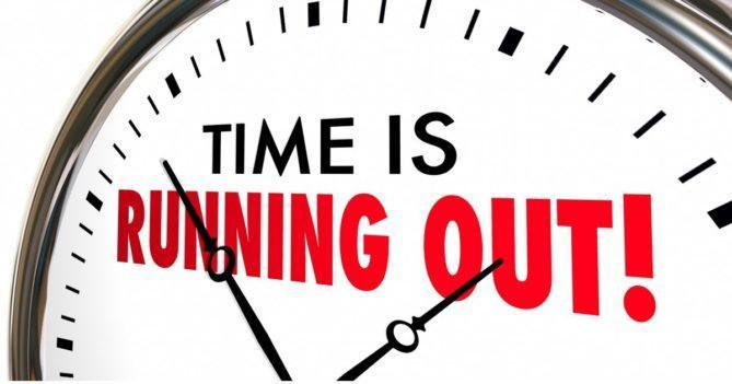 Time is running out clock image