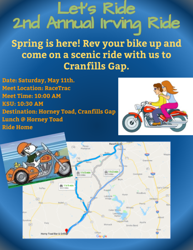 Irving's 2nd Annual Biker's Ride