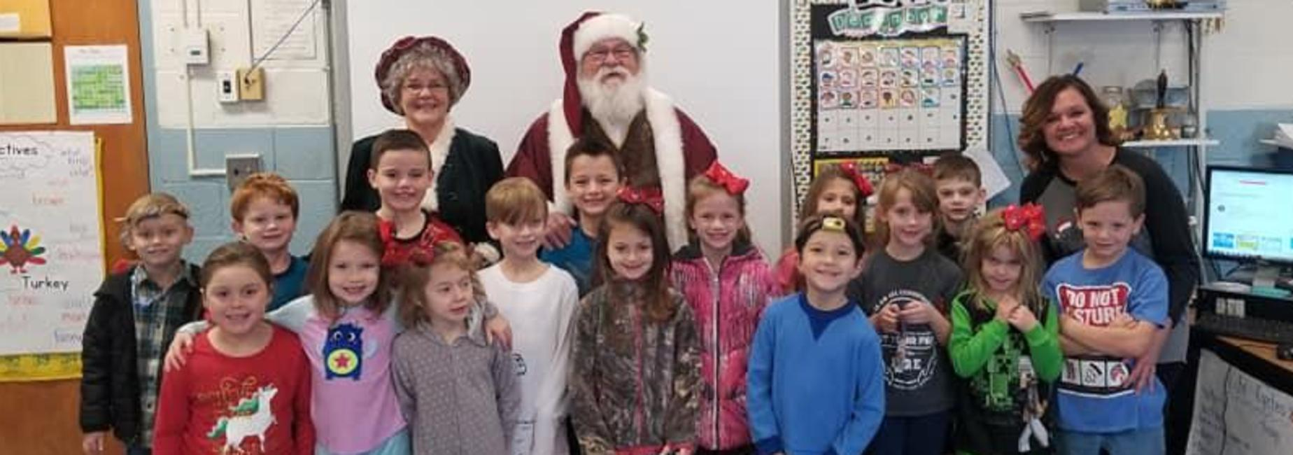 Class Photo with Santa