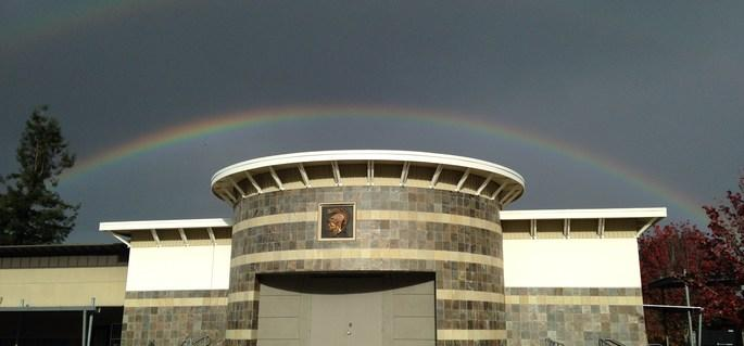 rainbow over quad