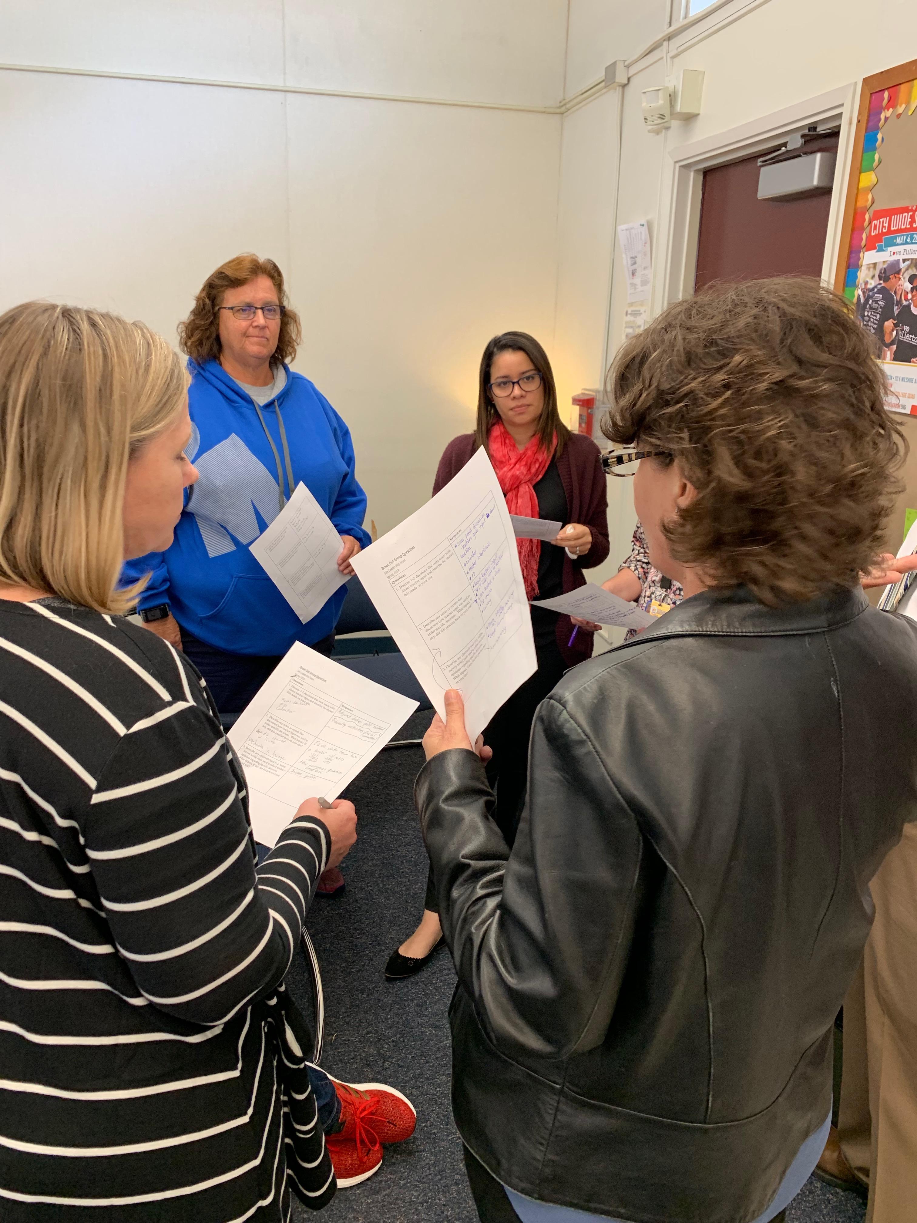 Teachers working together.