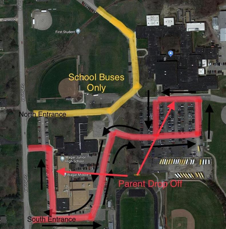 Traffic Pattern for AHS and WMS Morning