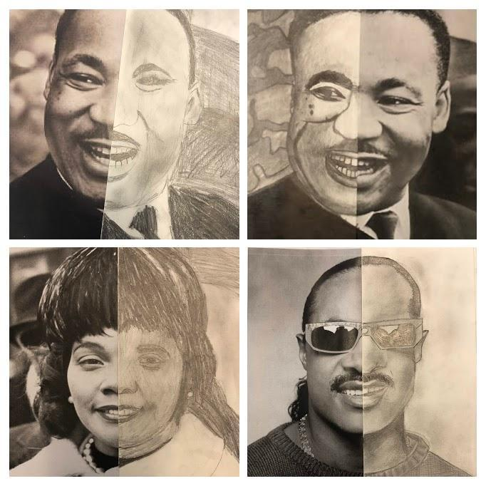 Black History World Changers-Student Half Draw Art