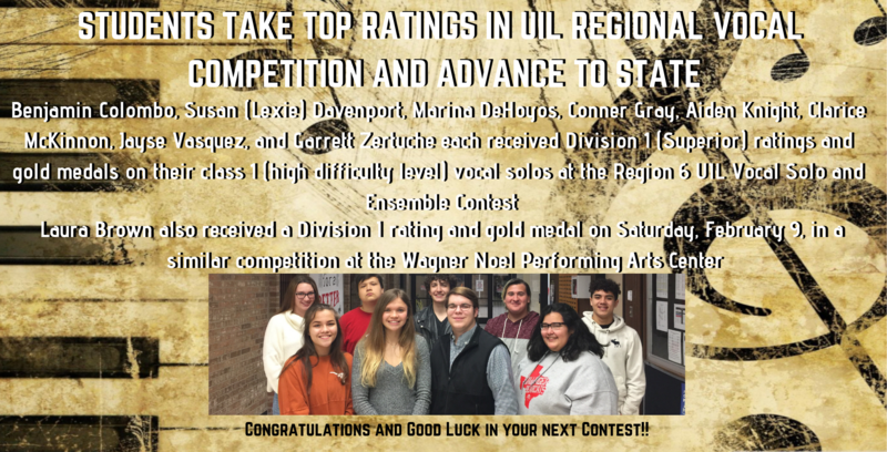 Top Ratings and Advancing to State