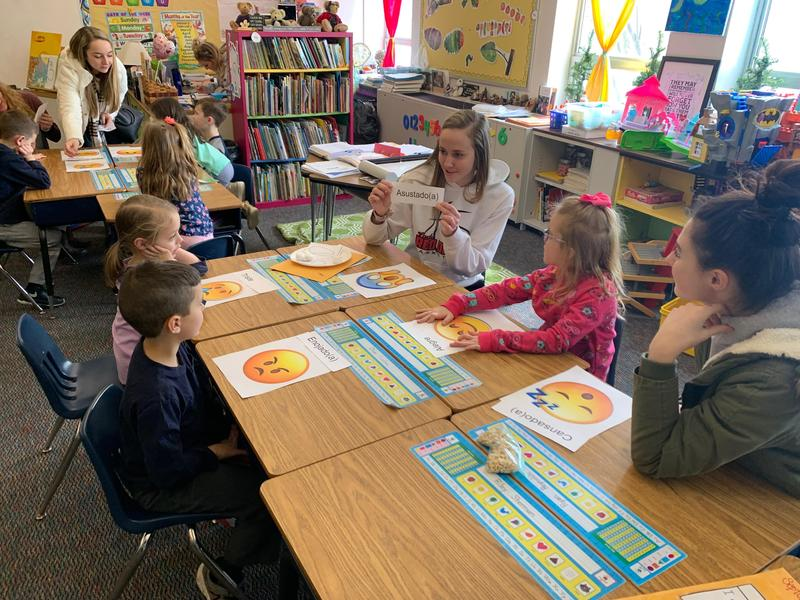 Students learn Spanish
