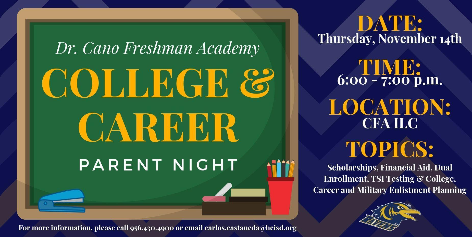 College and Career Parent Night Flyer