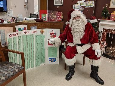 Santa checks the nice list
