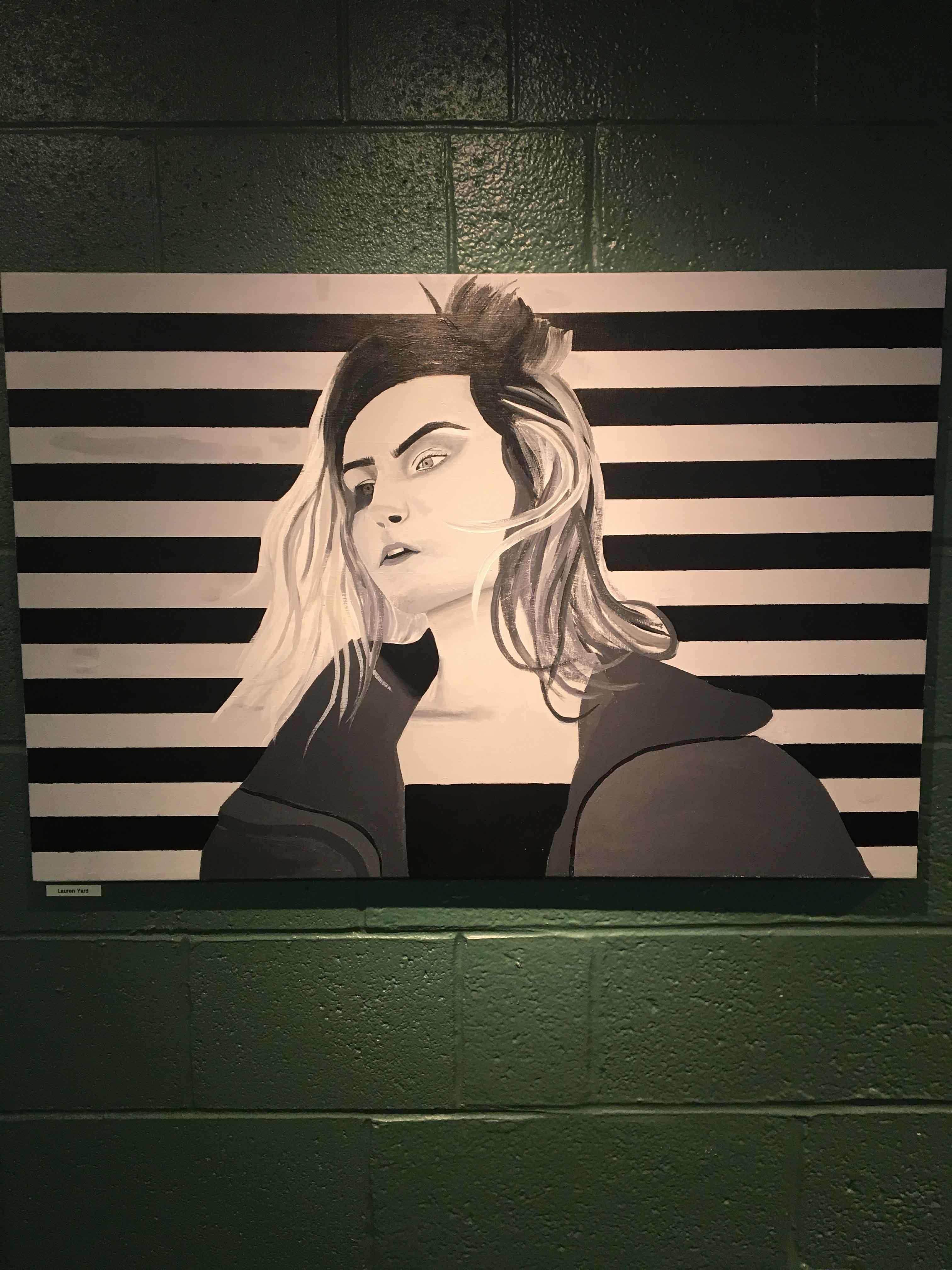 Painting self portrait