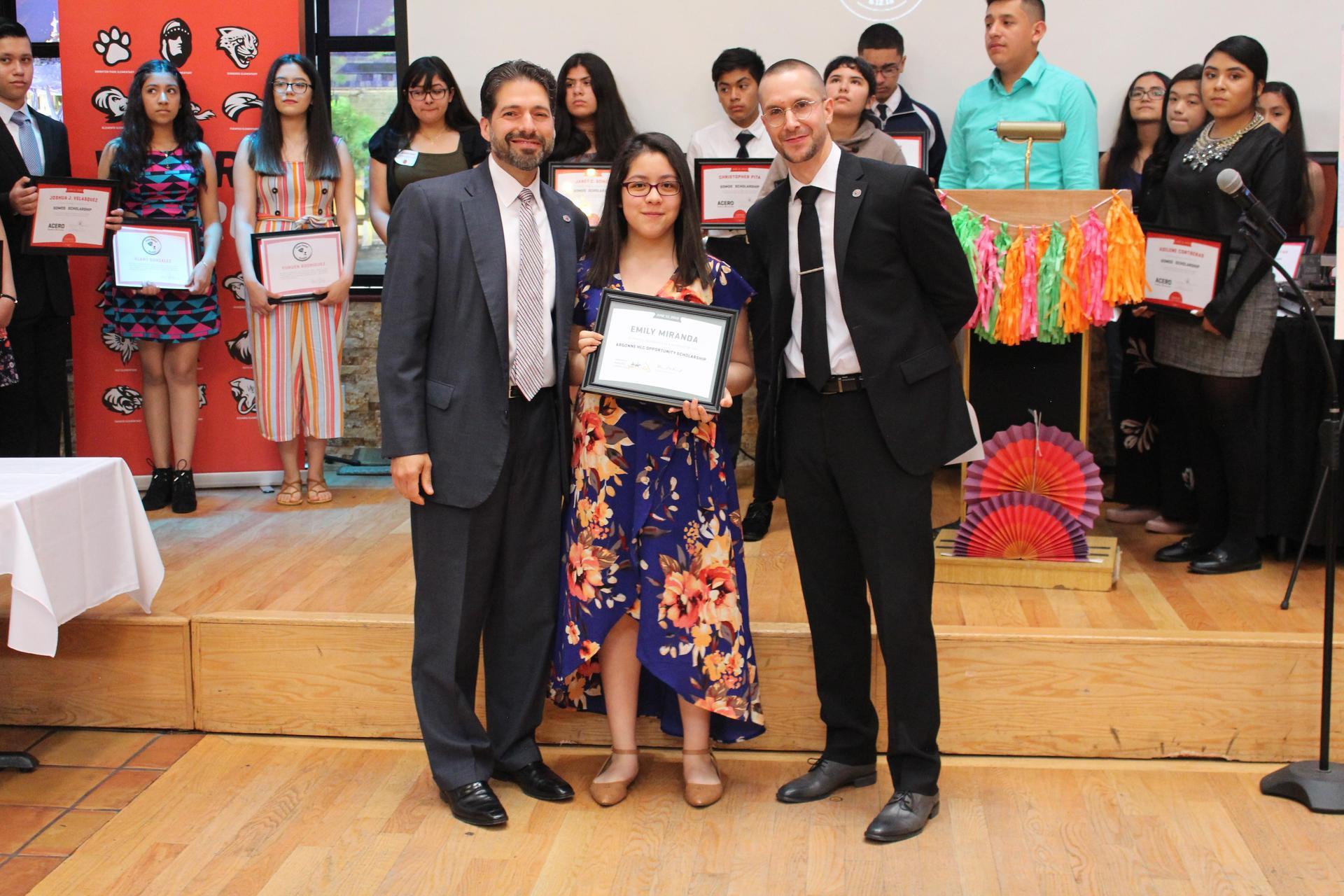 scholarship winner pictures