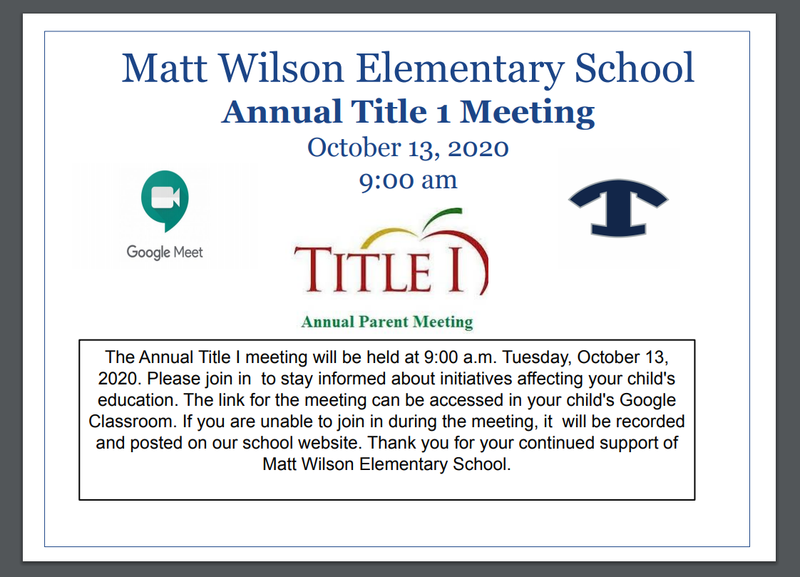 Matt Wilson Title 1 Meeting Featured Photo