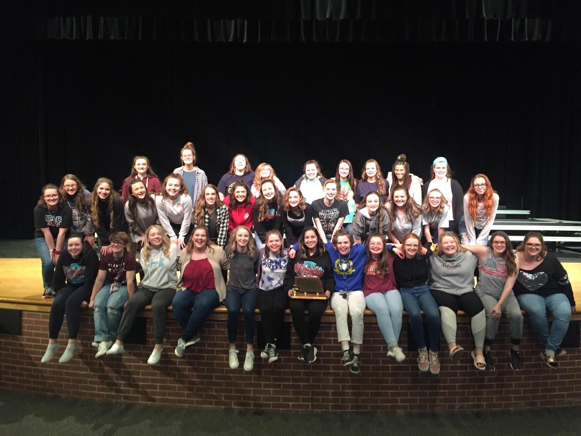 Group Photo of Award Winning Show Choir