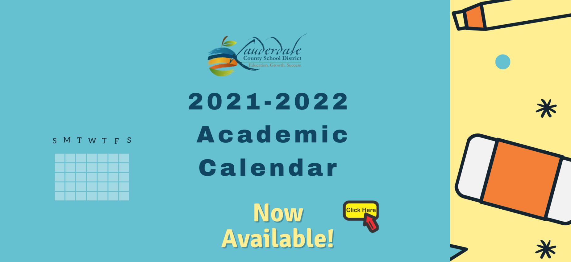LCSD 2021-2022 Academic Calendar Graphic