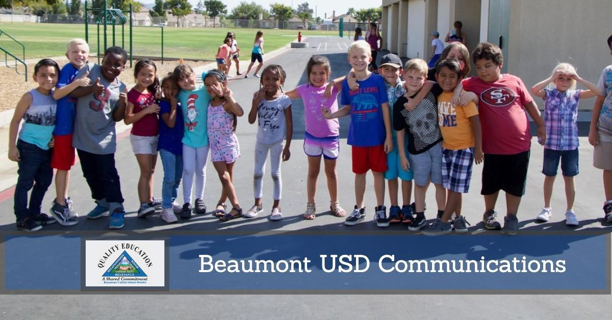 Students Lined Up - Beaumont USD Communications