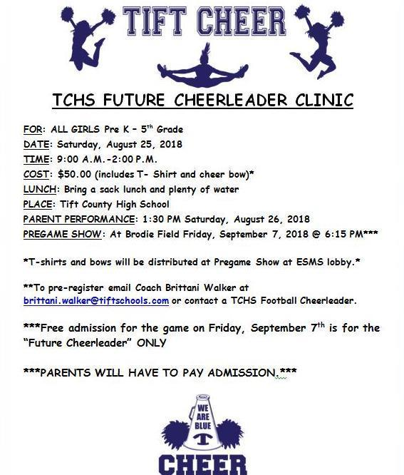 TCHS Future Cheer Clinic Featured Photo
