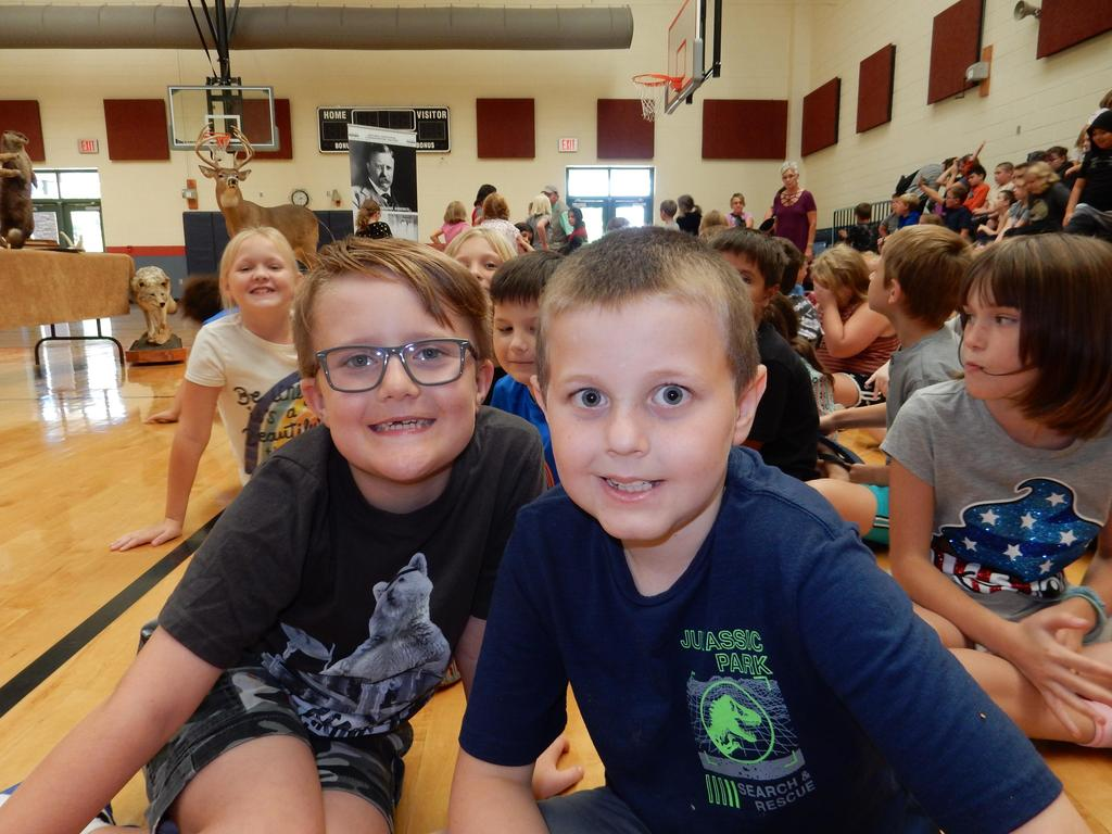 Students at the assembly
