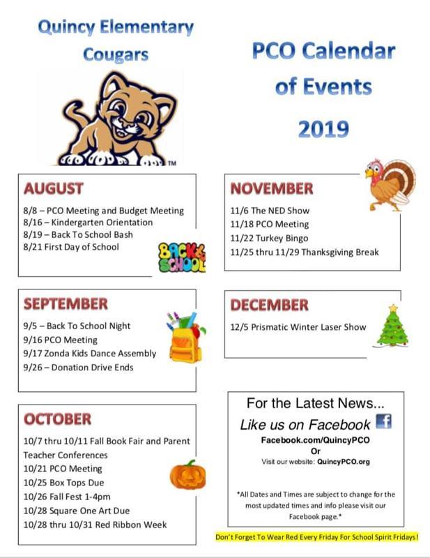 PCO calendar