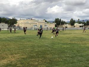 Girls soccer defeated Diamond Valley 7-1 to advance to the championship game.