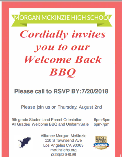 McKinzie Welcome BBQ Thumbnail Image