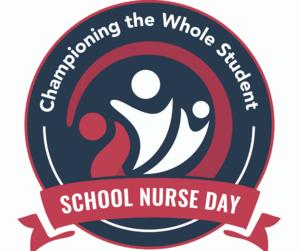 School Nurse Day Logo -- Championing the whole student